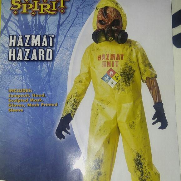 Super Cool HAZMAT HAZARD Zombie Costume Boys! M 5baadcf9bb7615d6a486f88c b9da8c70f